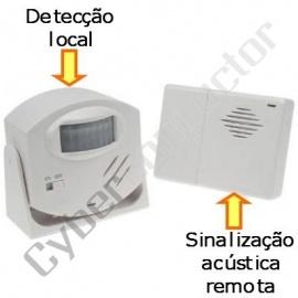 Detector de movimento com alarme, sem fios mod HAM25