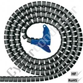 Espiral HellermannTyton Helawrapp HWEPP20BK 20mm Preta