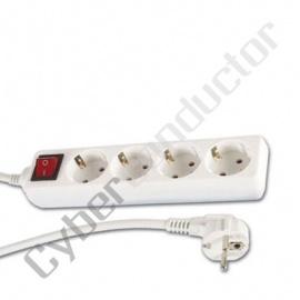 Extensão 4 tomadas protegidas com Interruptor
