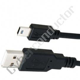 Cabo USB 2.0 tipo A - mini B de 5p 1.80m