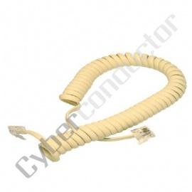 Cabo Telefone M/M Espiral 2Mts - Ambar