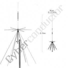 Antena Discone D-220 DIAMOND 100~1600MHz