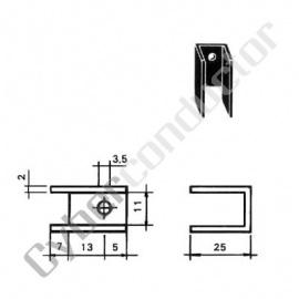 Dissipador Transístor para TO220 18.2ºC/W (ML26)