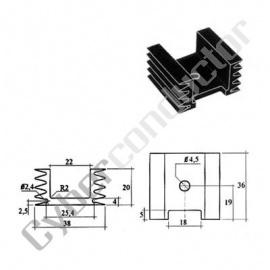 Dissipador Transístor para TO220 20ºC/W (ML26AA)