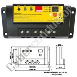 Regulador para Painel Fotovoltaico 10Amp 12~24V (RHN10A/1)
