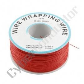 Fio Wrapping 0.25mm Cobre Vermelho 100-30R-FAR