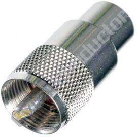 Ficha UHF Macho Soldar PL-RG213 Baquelite