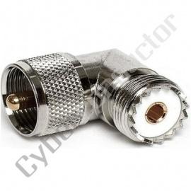 Adaptador encaixe parido UHF (M/F) 06-026