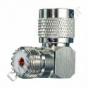 Adaptador UHF macho/femea 90º - (CU16)