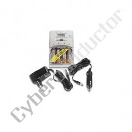 Carregador NiMH p/ baterias AA/AAA c/4 bat 2000mAh