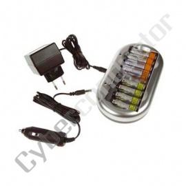 Carregador NiMH+NiCd p/ baterias AA/AAA