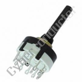 Comutador Rotativo 2 circuitos 6 Posições  Modelo 8404-2