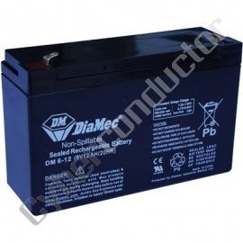 Bateria Ácida DM6-12 (6V12Ah/20HR)