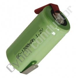 Bateria Recarregável NiCd 1.2V-1.3Ah LR14 C/Patilhas