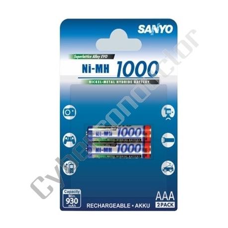 Bateria Recarregável NiMH 1.2V 1000mAh
