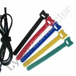 Conjunto 10 Abracadeiras Velcro cores 180x21mm