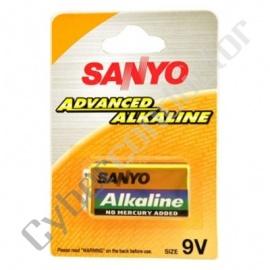 Pilha Alkalina Sanyo 6LR61/9V