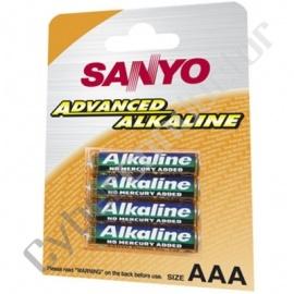 Pilha Alcalina Sanyo LR03/AAA