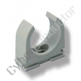 Abraçadeira para tubo rígido ou flexível, cor cinzenta M16Mod. ALH-M16