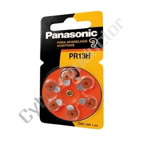 Pilha Zinc Air Panasonic PR13 1.4V F.P.