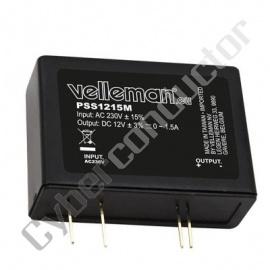 Conversor Tensão 230VAC/12VDC p/PCB  1.5A Tipo PSS1215M