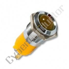 Sinalizador Led 14mm 24V Metalico cor amarelo (1105445)