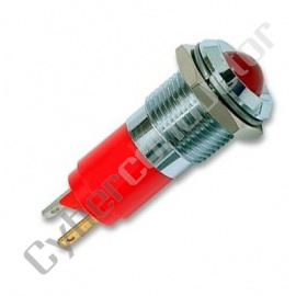 Sinalizador Led 14mm 24V Metalico cor vermelho (1105443)