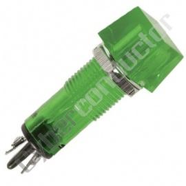 Sinalizador plastico quadrado 11.5x11.5 12V Verde-CCAF012VBL