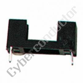 Porta Fusivel 5x20mm p/ PCB Plastico preto - Mod.: FUSE/HLC