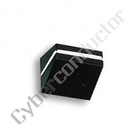 Botão plástico tipo slider c/ Linha BR Ind 19x9mm 144-0017