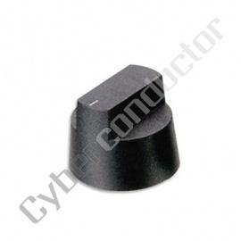 Botão plástico preto acabamento mate diâmetro 14mm 120-9725