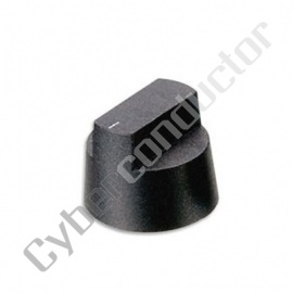 Botão plástico preto acabamento mate diâmetro 28.1mm 120-9727
