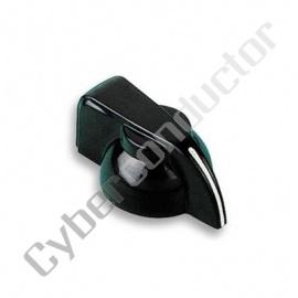 Botão plástico preto marcação por ponto 6.4mm (144-0014)