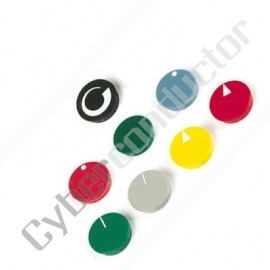 Tampa para botão plástico diâmetro 36x32x30mm - preto - DK36N